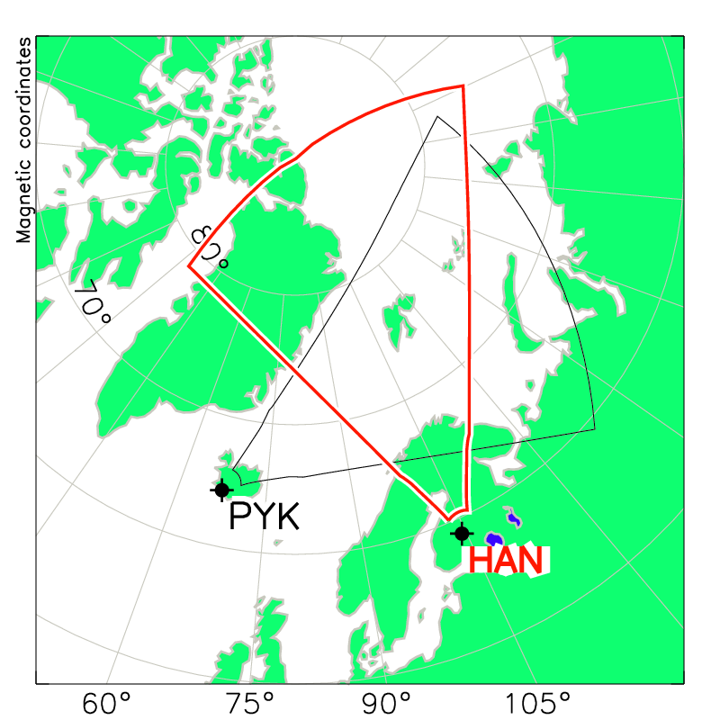 Hankasalmi Radar Field of View Map