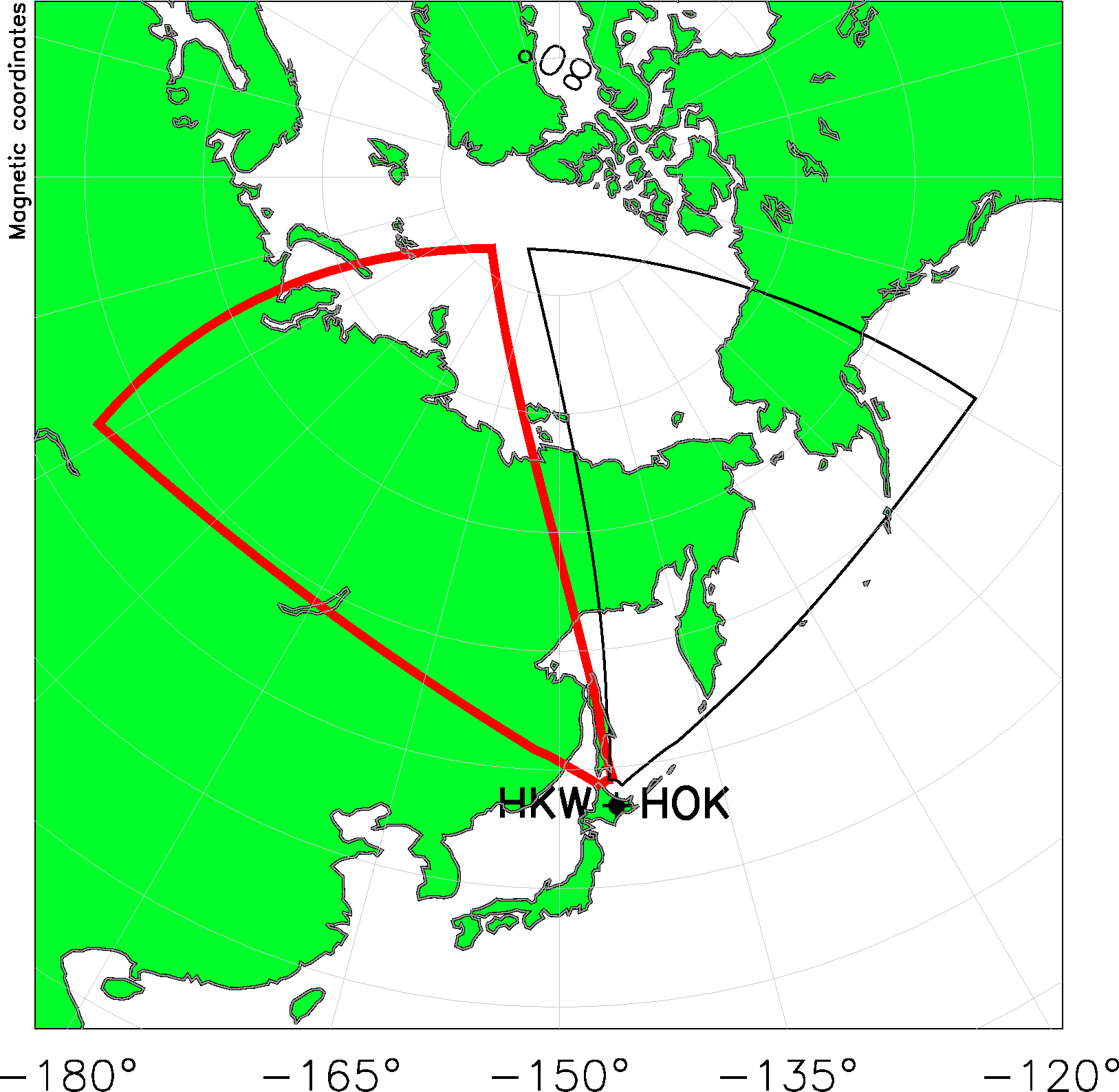 Hokkaido West Radar Field of View Map