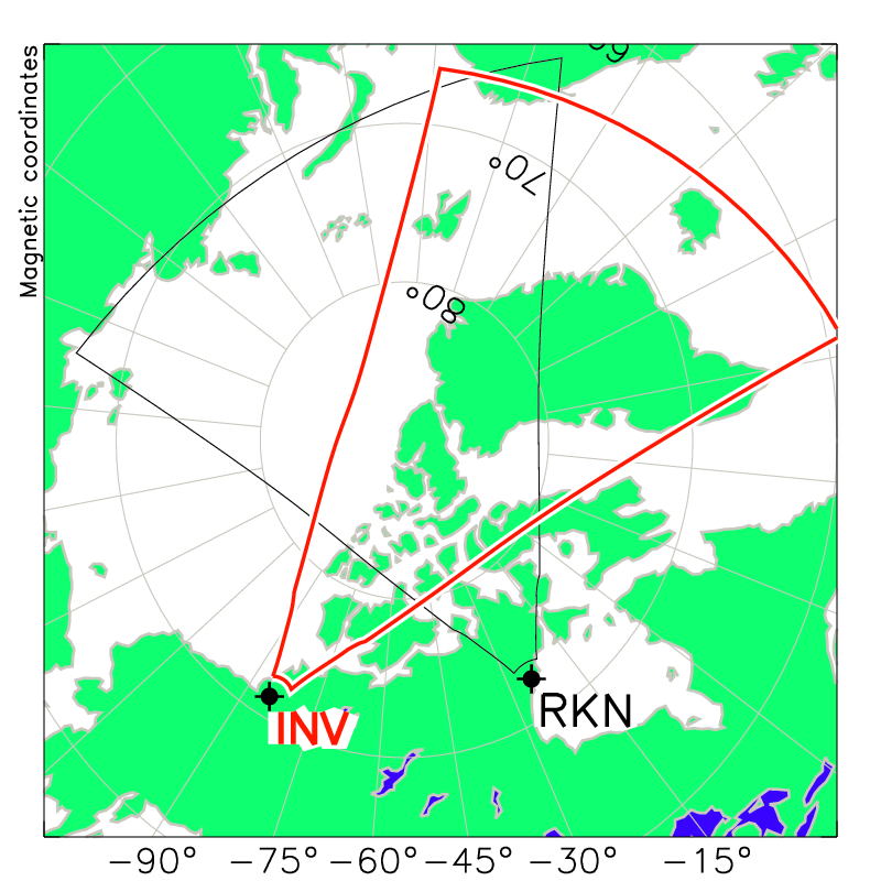 Inuvik Radar Field of View Map
