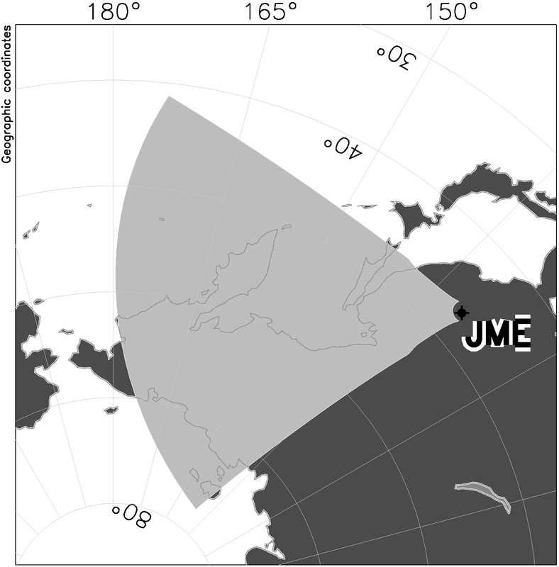 Jiamusi Radar Field of View Map