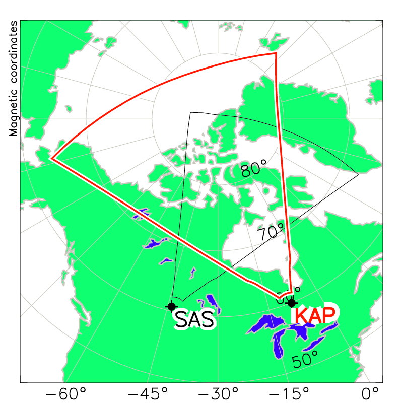 Kapuskasing Radar Field of View Map
