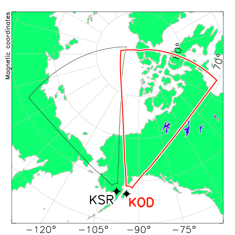 Kodiak Radar Field of View Map