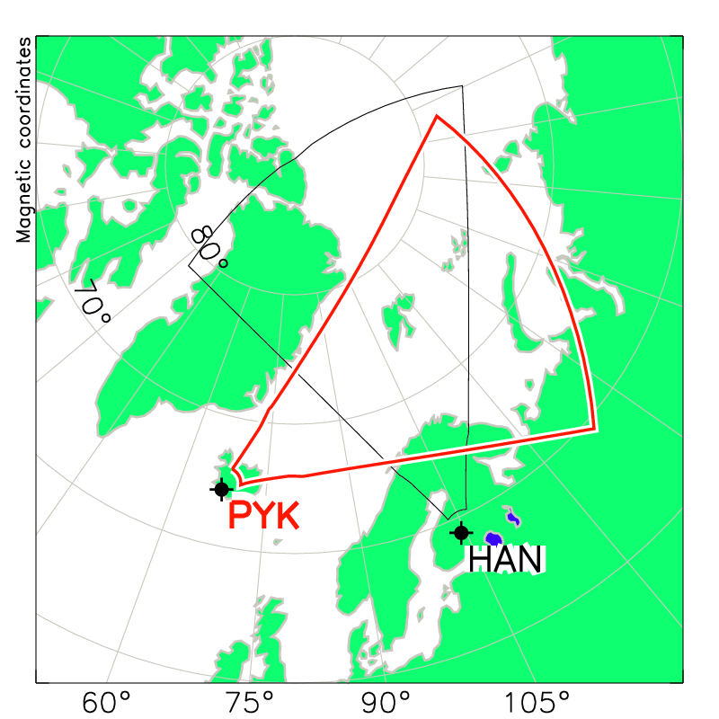 Pykkvibaer Radar Field of View Map