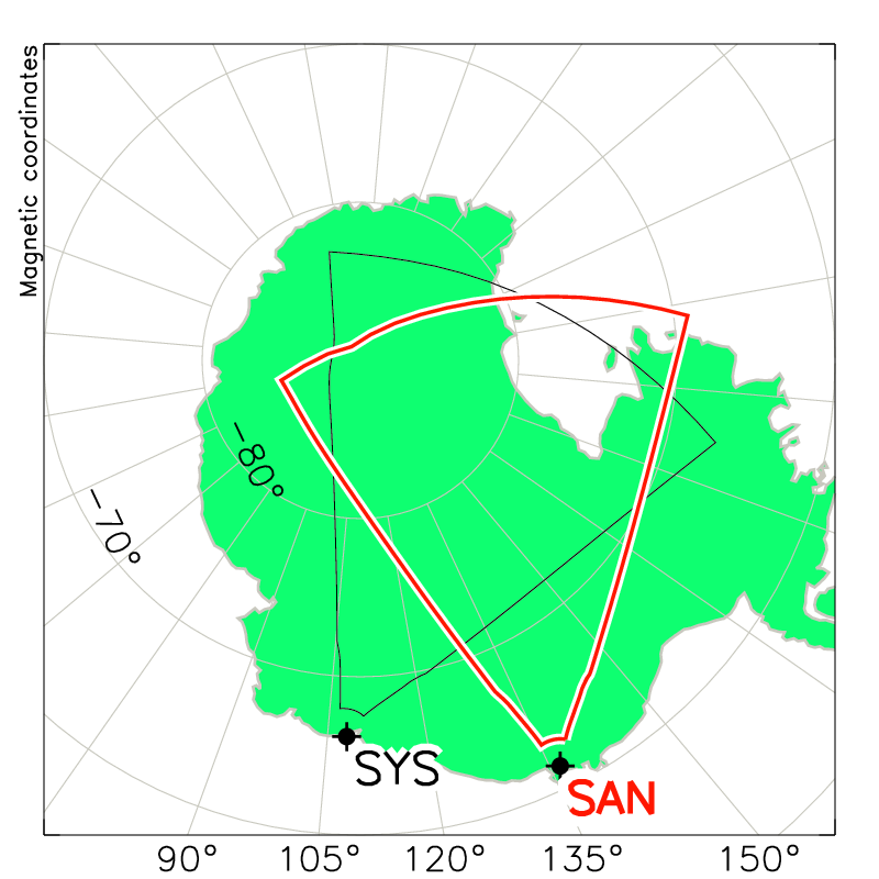 SANAE Radar Field of View Map