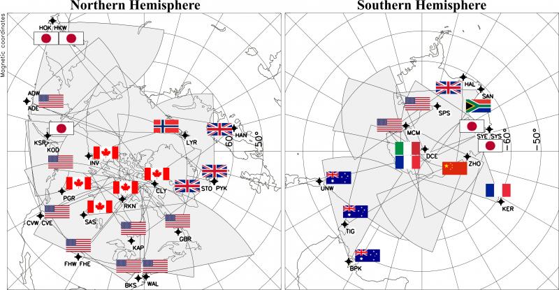 Map Of Australia Radar.Vt Superdarn Home Virginia Tech Superdarn